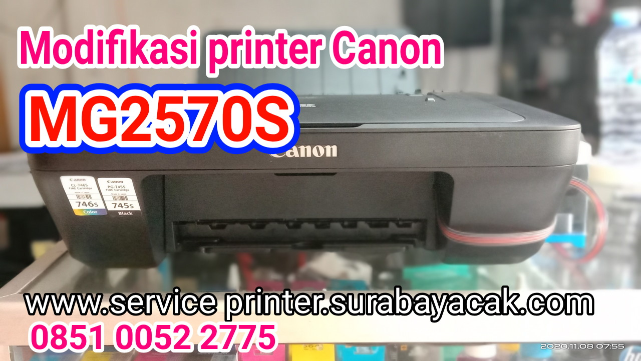 jasa modifikasi printer Canon mg2570s Surabaya