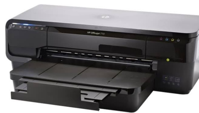 cara self test printer HP officejet 7110